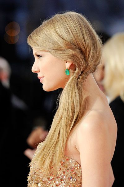 Woven: Flowers Girls Hair, Side Ponies, Bridesmaid Hair, Fishtail Braids, Side Ponytail, Hair Style, Side Braids, Ponies Tail, Taylors Swift Hairstyles