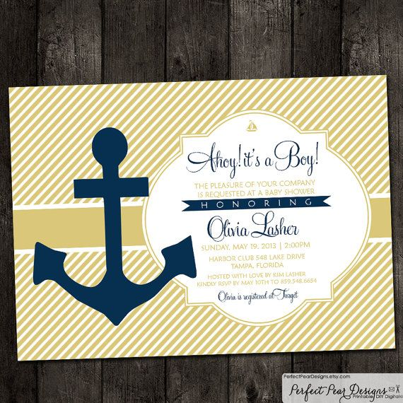 91 best nautical baby shower (boy) images on pinterest | nautical, Baby shower invitations