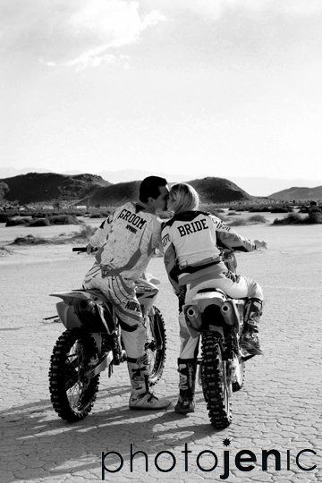 engagement, desert, dirt, bikes, bride, groom, photography, photographer, wedding, orange county, photojenic, photographybyjen.com #dirtbikes #engaged