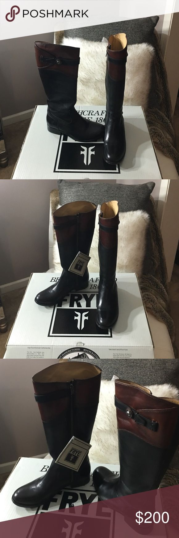 Frye molly Button tall riding boots Brand-New Brown and black tall Frye riding boots Frye Shoes Heeled Boots