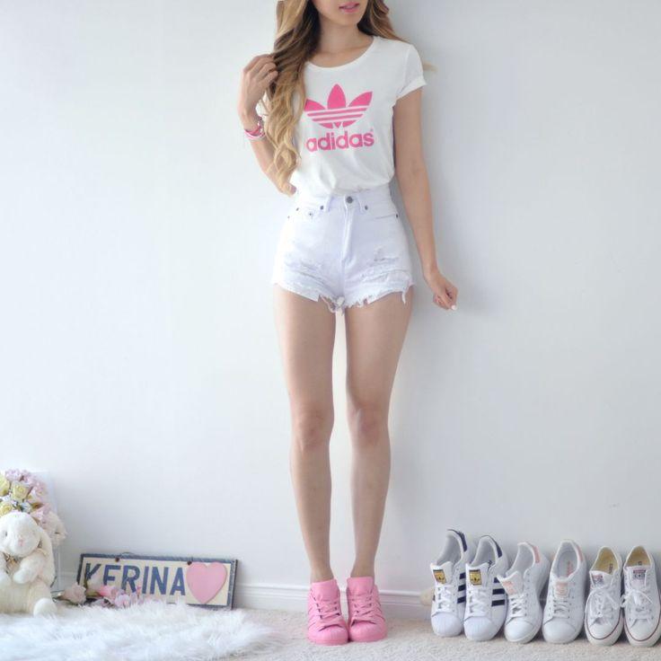 Adidas Pink Trefoil Tee