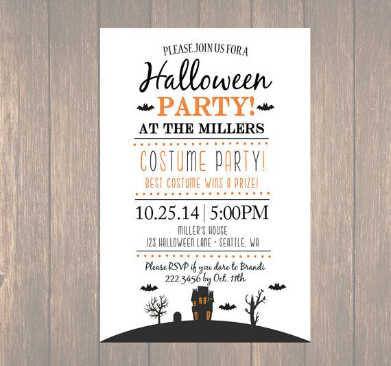 Printable Halloween Invitation, ,DIY Halloween Costume Party, Costume Party…