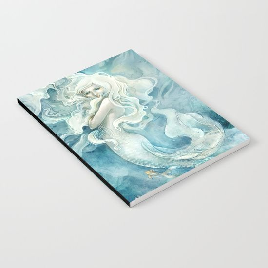 Mermaid Notebook, fantasy art    by strijkdesign