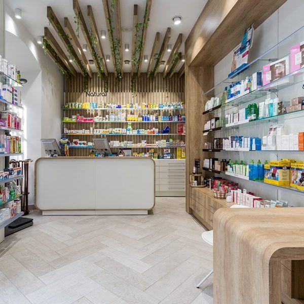 repineado por casa reinal la idea proyectos farmacia - Retail Design Ideas