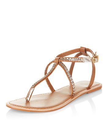 Cuir Femmes Sandales Sangle De Sandales Vero Moda AtMte0jM