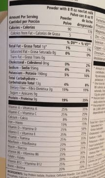 herbalife nutrition facts