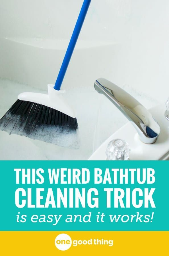This Weird Trick Is The Best Way To Clean Your Bathtub With