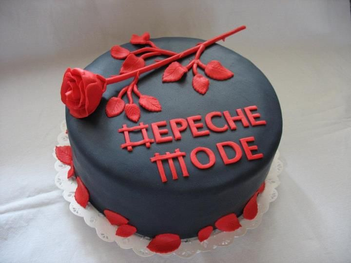 A Depehce Mode cake .. can someone make this for me oh goodness I really need this in my life because reasons *fans self*