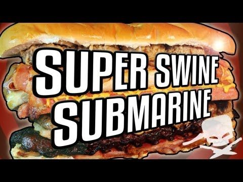▶ Super Swine Submarine Sandwich - Epic Meal Time - YouTube