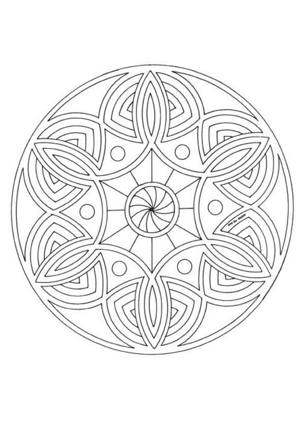 printable & online-colorable mandalas (: This totally just made my day!