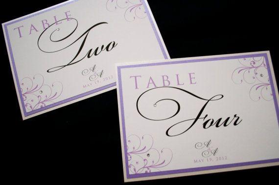 255 melhores imagens de escort cards seating cards for Table 52 number