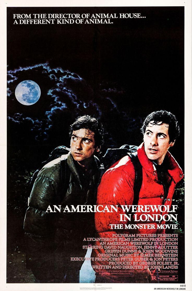Un Hombre Lobo Americano en Londres (An American Werewolf in London), de John Landis, 1981