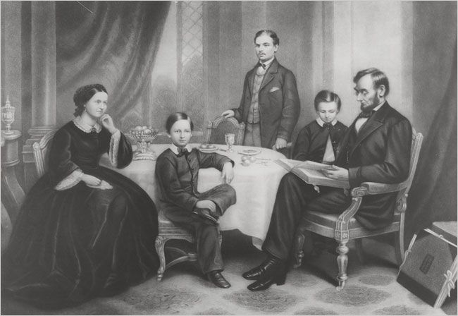 A Lincold Family Portrait Abraham Lincoln His Wife Mary