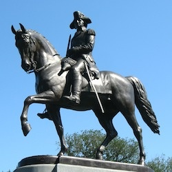 George Washington, Boston Public Garden