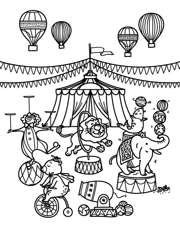 coloring pages and circus - photo#22