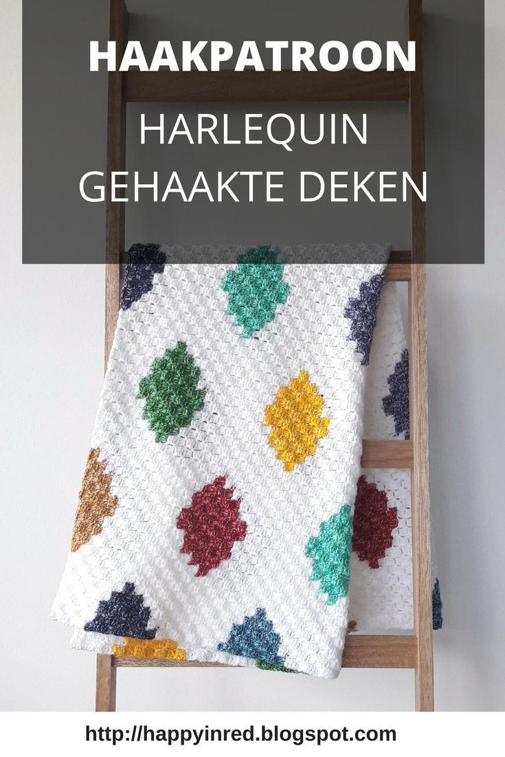 C2c Harlequin Blanket Free Crochet Pattern Blankets Crocheted