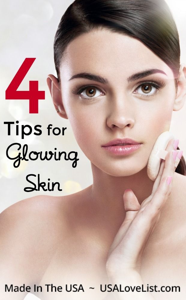 Have Glowing Skin With These Four Tips And Products You Can Trust Made In Usa Usa Love List Glowing Skin Remedies For Glowing Skin Summer Skin Care Tips