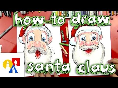 How To Draw Santa Claus's Face - Art For Kids Hub -
