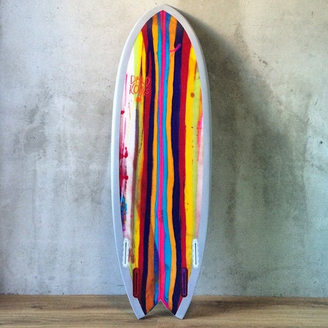5'5 Riches Quad with a grubby candy stripe one pull bottom. Dead Dooks