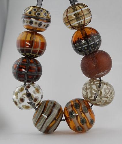 CK Lampwork___Autumn Hollow Beads 10-SRA, Handmade glass beads   eBay