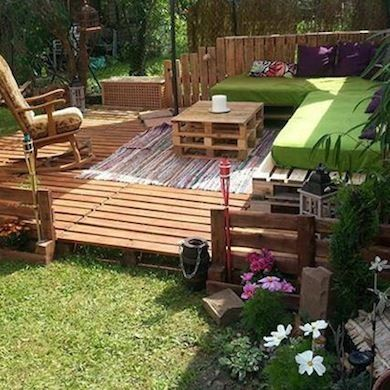 Backyard Patio - Wood Pallet Projects - 15 DIY Ideas - Bob Vila