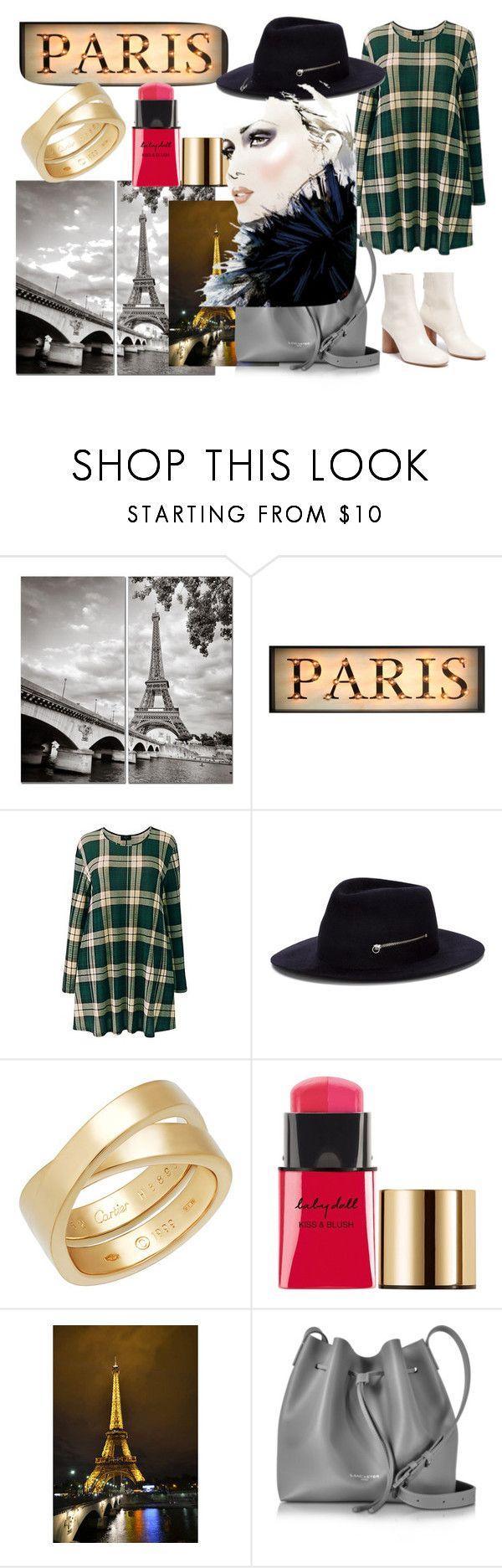 """""""Paris"""" by fashionpolyvore112num2 on Polyvore featuring AX Paris, Larose, Cartier, Yves Saint Laurent and Lancaster"""