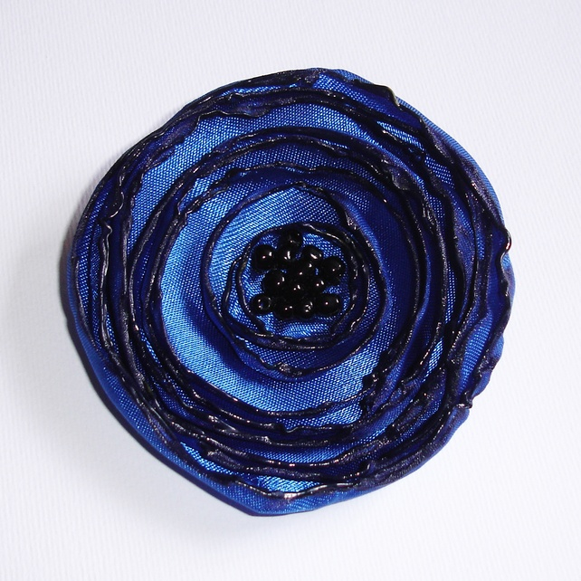 Royal Blue Fabric Poppy Corsage £6.50