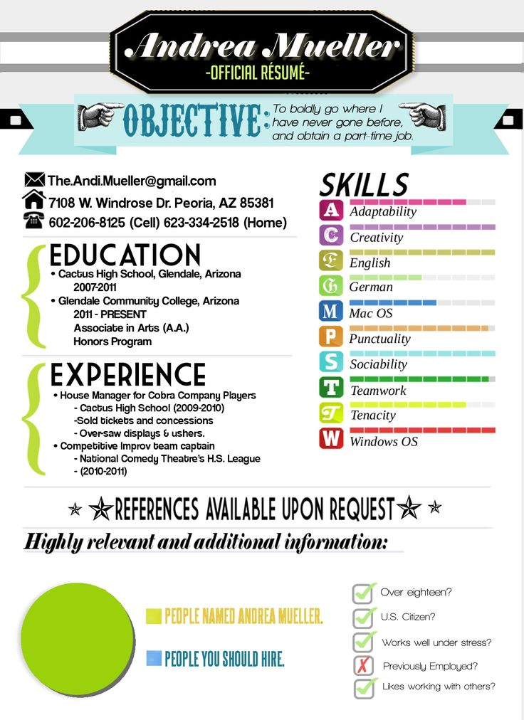 19 best Resumes images on Pinterest Resume, Resume ideas and - resume out of college