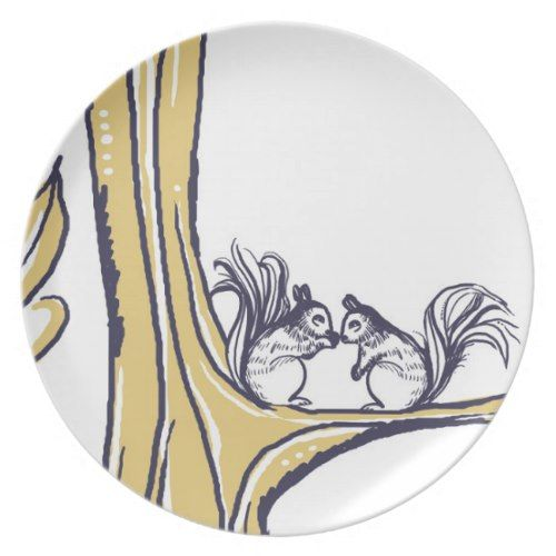 Nuts About You Squirrels Wedding Dinner Plate