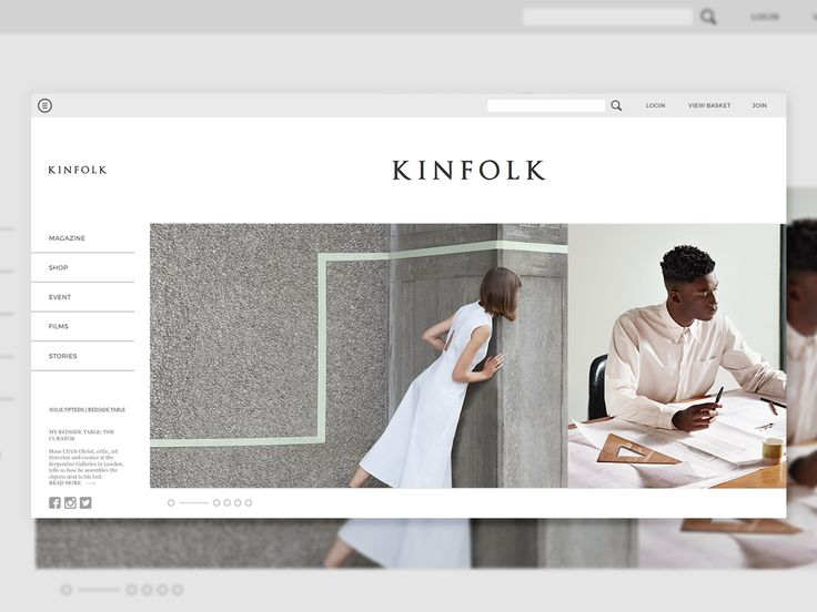 Kinfolk - Design Concept on Behance