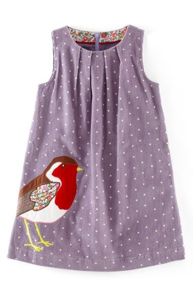 Mini Boden Animal Appliqué Corduroy Dress (Toddler Girls, Little Girls & Big Girls) | Nordstrom