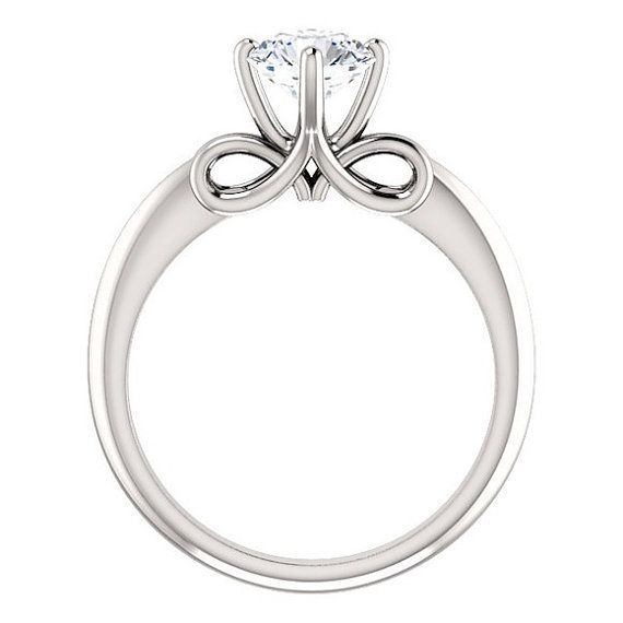 Moissanite Wedding Set  1 Carat Forever One  Infinity Ring  14K Gold  Engagement Ring  Wedding Ring  Boho