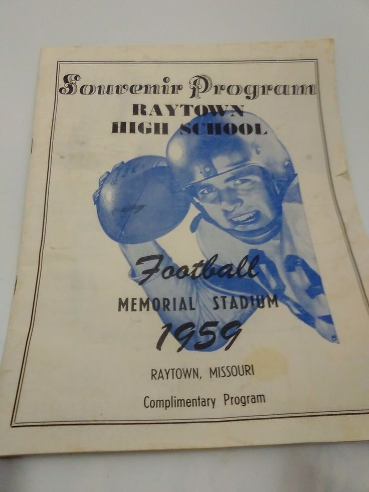 1959 VINTAGE RAYTOWN MISSOURI HIGH SCHOOL Football Memorial Stadium Souvenir…