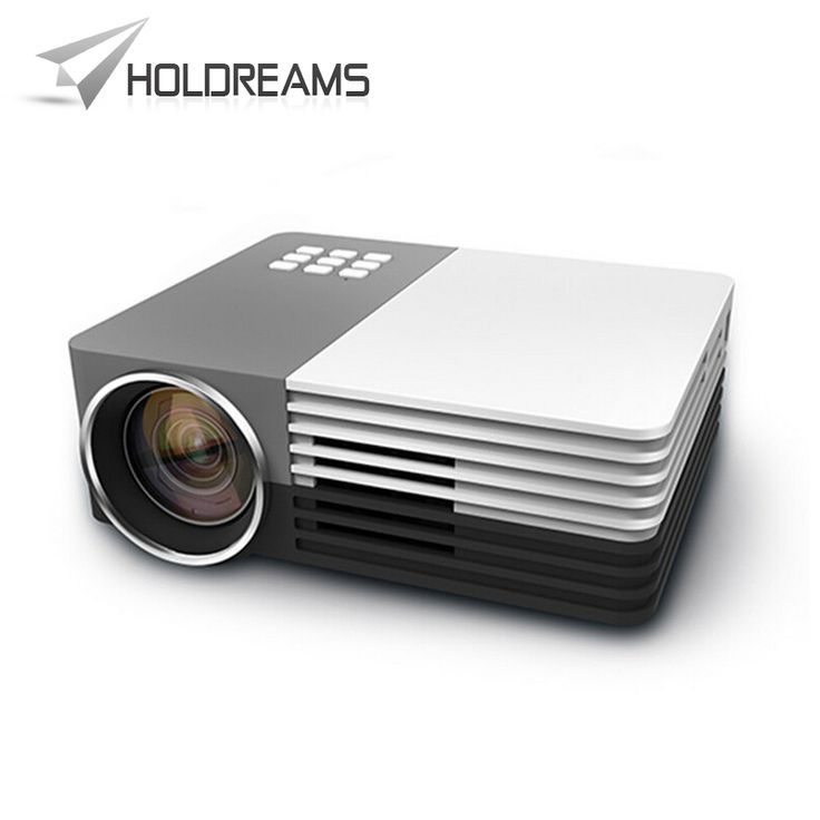 GM50 Mini Portable LED Projector Video Theater Home Projector SD/HDMI/VGA/AV/USB + HDMI Cable + Audio Cable
