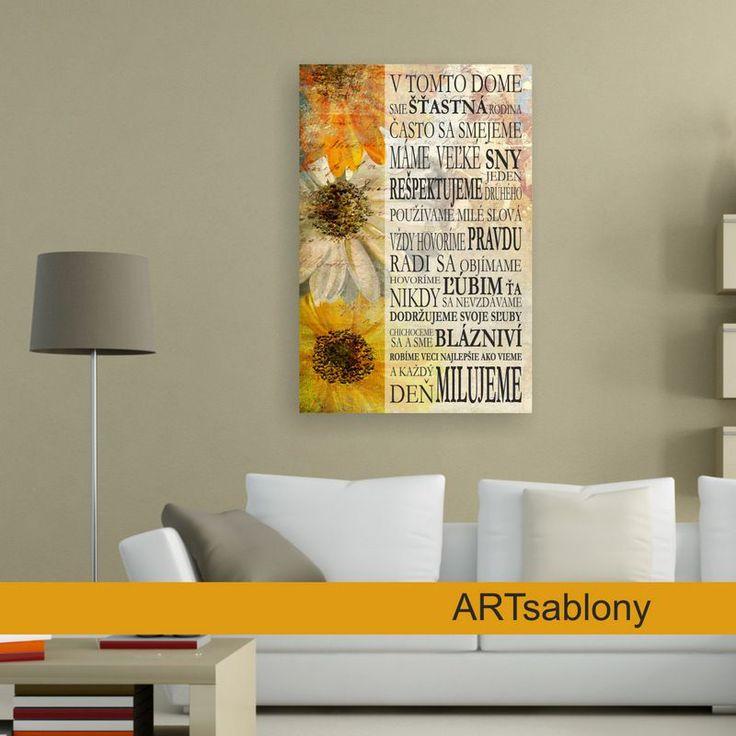 (3458o9) Obraz, Domov..., slnečnice | ARTSABLONY.SK