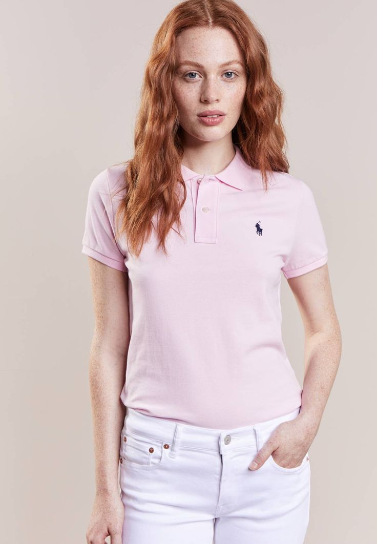 """Polo Ralph Lauren. SKINNY FIT - Polo shirt - county club pink. Fit:regular. Outer fabric material:100% cotton. Our model's height:Our model is 69.5 """" tall and is wearing size S. Pattern:plain. Care instructions:machine wash at 30°C,Machine wash on gentle cycle..."""