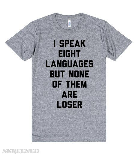 "I speak eight languages but none of them are loser. Quote from ""Pitch Perfect 2"" Das Sound Machine. Although it was against the Bellas, it's still an aca-awesome quote. #pitchperfect"