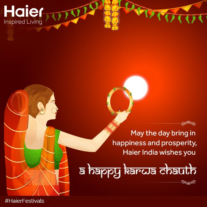 May the auspicious day bring happiness to you. #HappyKarwaChauth! #HaierFestivals
