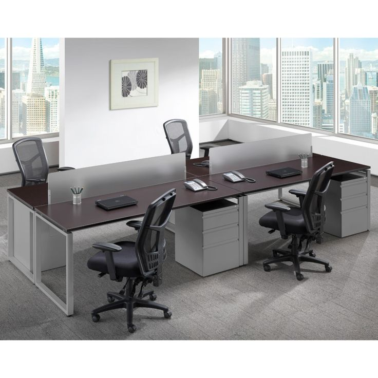 Lovely Elements Mahogany Desk With Silver Legs And Silver Pedestals. Available At Alternative  Office Solutions 408