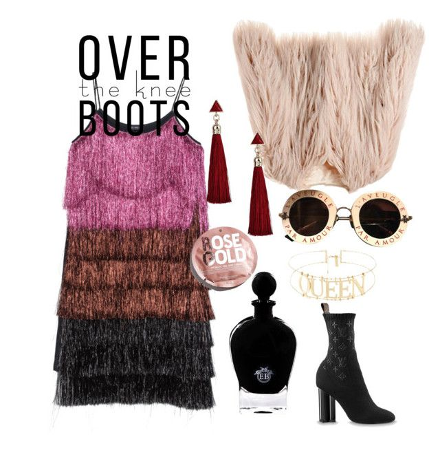 """""""Party queen dress"""" by pusheencute on Polyvore featuring Gucci, EB Florals and Urban Outfitters"""