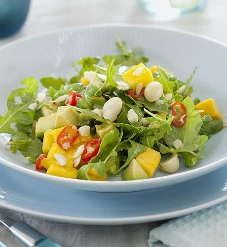 Healthy lunch ideas: mango, avocado and macadamia salad