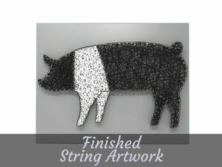 Hampshire Pig - String Artwork