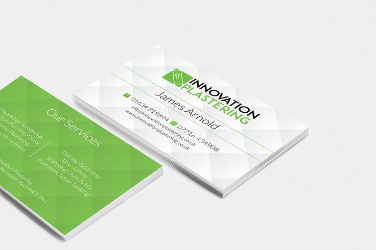 Innovation Plastering Business Card Design #businesscard #design #businesscarddesign #medway