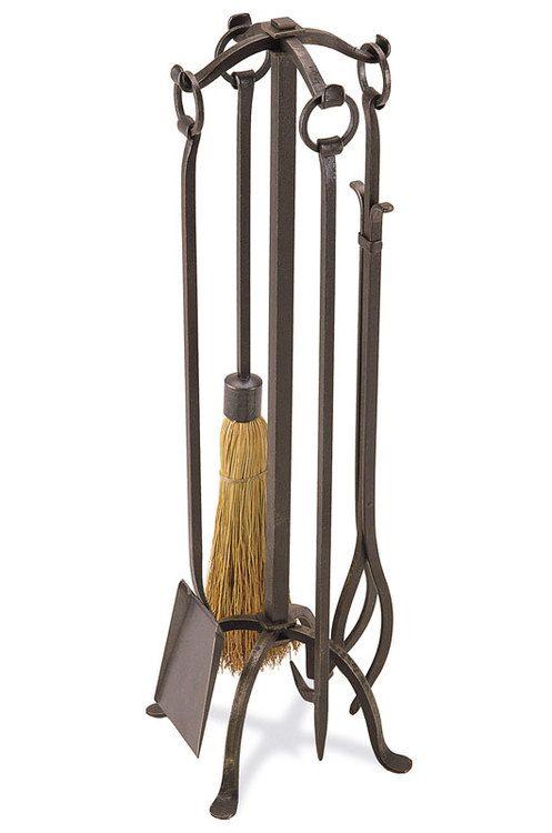 Pilgrim 5 Piece Vintage Iron Craftsman Fireplace Tool Set