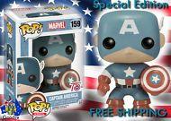 Funko Pop Vinyl 159 Captain America 75th Anniversary Special Edition Bobble Head