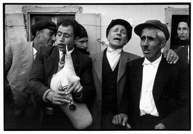 "Constantine Manos. Greece. Karpathos. Olympos. 1964. Singing men. ""A Greek Portfolio"" p.80. © Costa Manos/Magnum Photos"