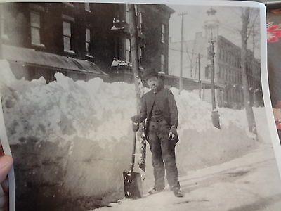 1888 Blizzard Snow Clinton Hill Brooklyn NYC New York City Photo