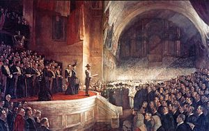 1901, Federation of Australia. Opening of the first Parliament of Australia, January 1.