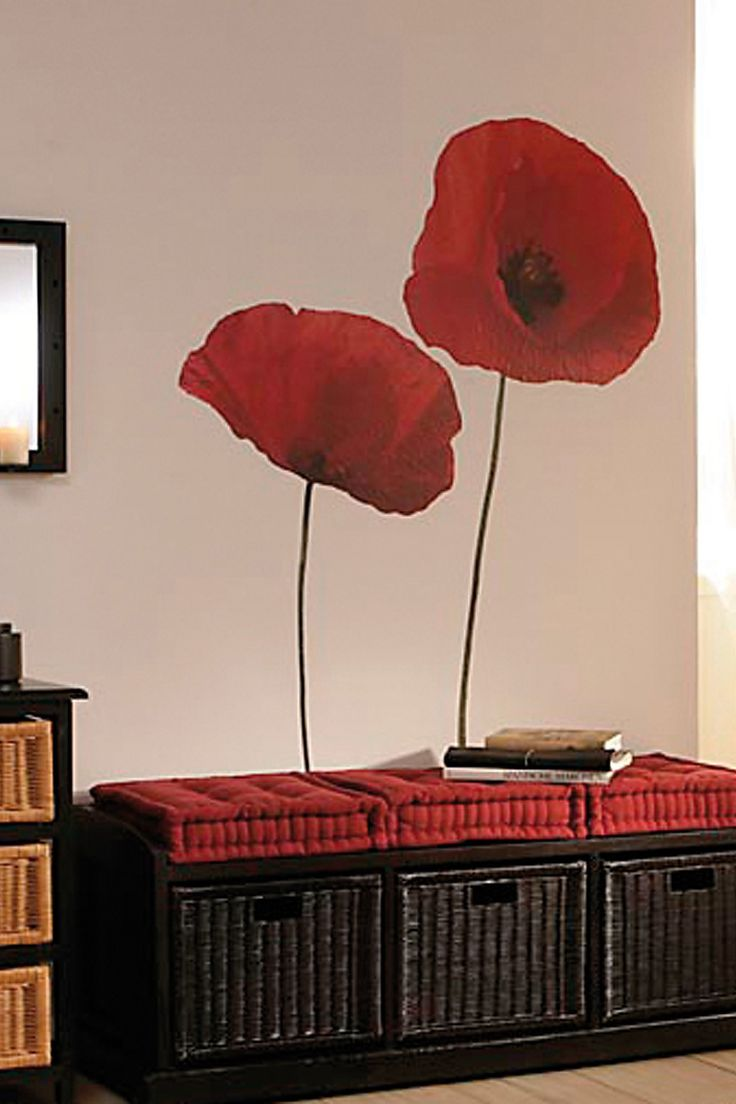 Poppies Decal by Brewster Home Fashions on @HauteLook