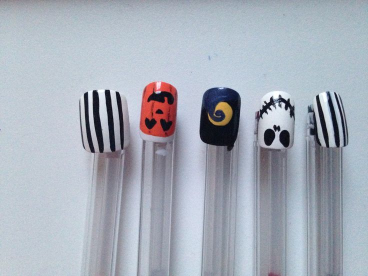 Nightmare before Christmas nails!! Jack nail art